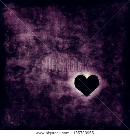 Illustration of a lonely heart in a dark room