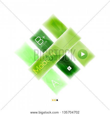 Business stripes geometric infographics box. Abstract geometric infographics layout. Glass modern universal template.