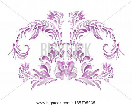 Violet Vintage  Flowers