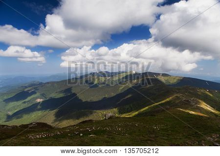 Amazing summer Carpathian landscape. Location Carpathian mountains, Ukraine, Europe. Travel Photo