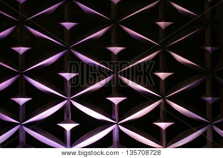 Architecture Abstract Wall Art For Background Use (purple Dark Tone)