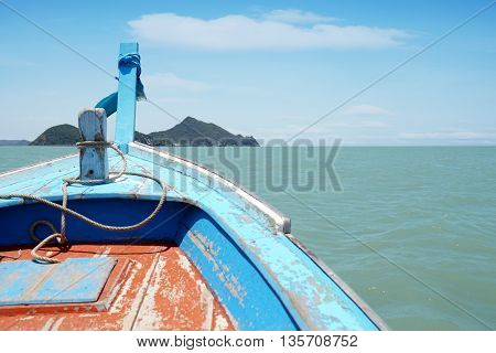 Boat Heading To Island In Hua Hin, Southern Thailand