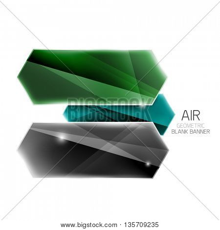 Blank colorful glossy arrow stripes for text. universal presentation element or background template