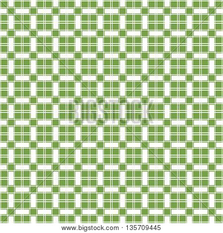 Vector green mosaic texture seamless pattern background