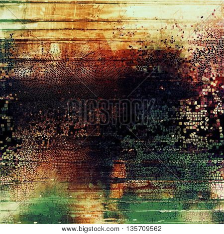 Vintage aged texture, old scratched background. With different color patterns: yellow (beige); green; blue; red (orange); purple (violet); black