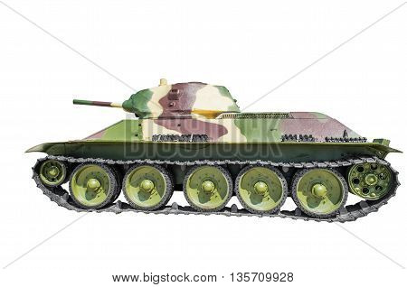 Soviet tank T-34-76. isolated on white background