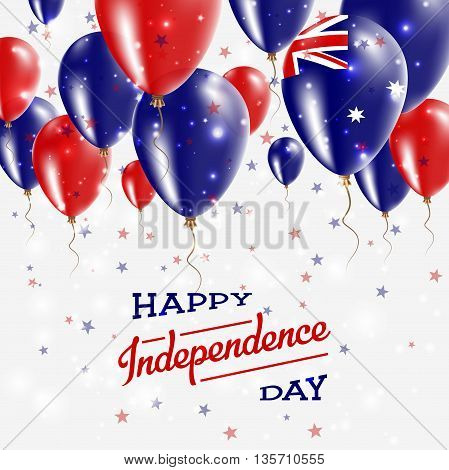 Heard And Mcdonald Islands Vector Patriotic Poster. Independence Day Placard With Bright Colorful Ba