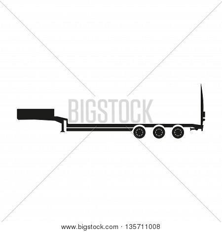 Cargo trailers . Silhouette of a truck trailer. Vector illustration