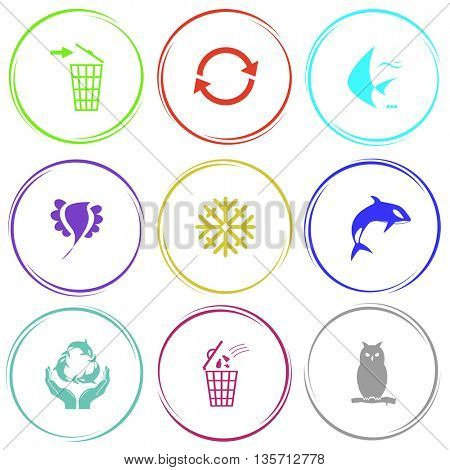 Nature set. Internet button. Vector icons.