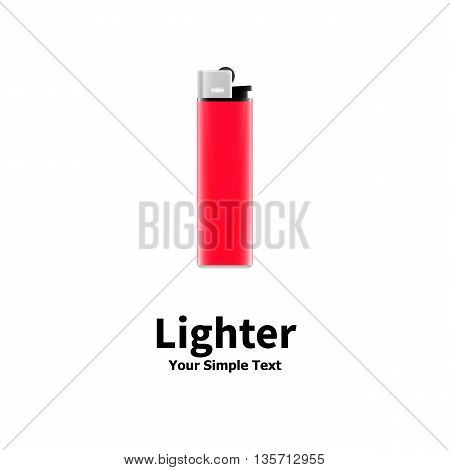 Vector illustration of a red lighter isolated on white background.