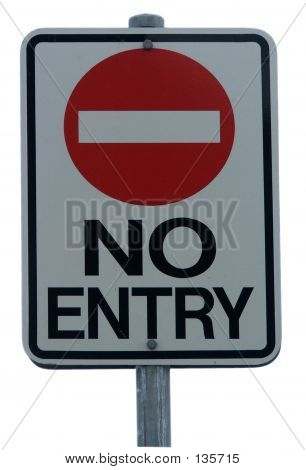 Sign No Entry