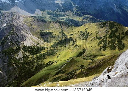 View On Alp In The Alps (karwendel)