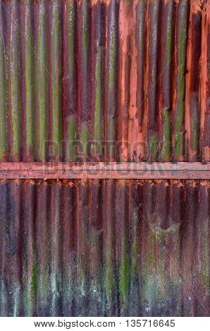 Old Rust On Zinc Wall