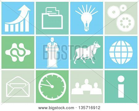Business concept icon, research, financial investment, consulting,