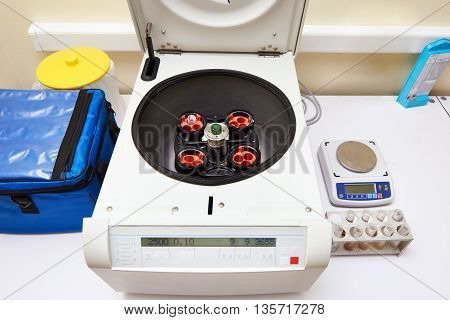 Centrifuge Multifunctional In Biochemical Laboratory