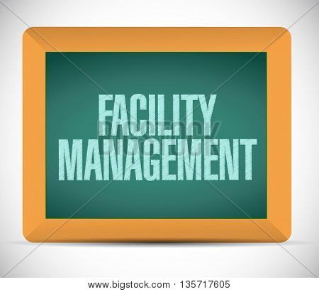 Facility Management Chalkboard Sign