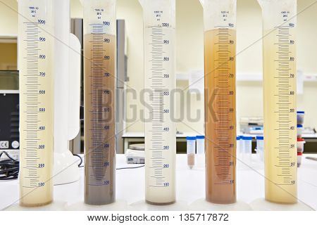 Measuring Test Tubes With Different Liquid Ib Laboratory