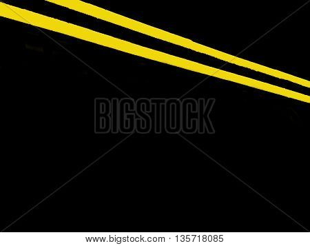 Abstract Creative British Double Yellow Lines Street Scene