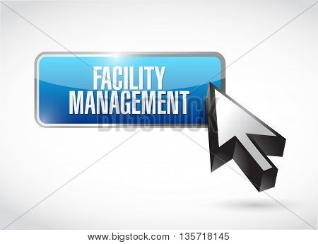 Facility Management Button Sign Illustration