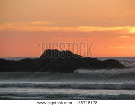 Sun Set At Blouberg Strand, Cape Town South Africa