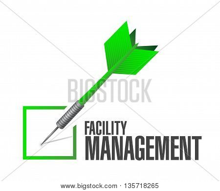 Facility Management Check Dart Sign