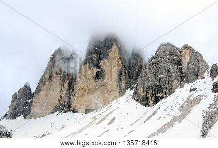 View On Summit Of The Alps (dolomites)