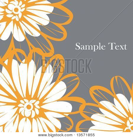 vector flower background design