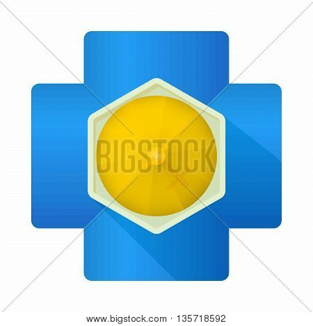 Church top view icon in cartoon style on a white background