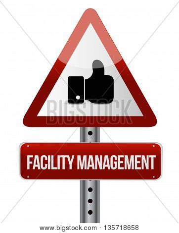 Facility Management Like Sign Illustration