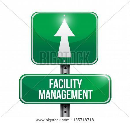 Facility Management Road Sign Illustration