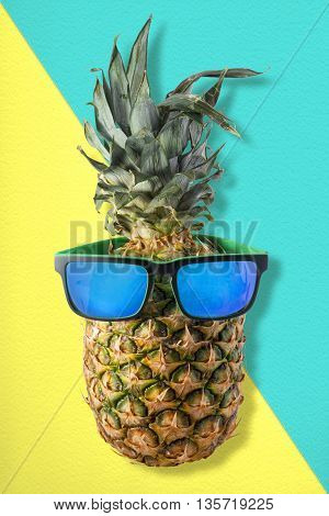Fun Pineapple Fruit With Summer Sunglasses