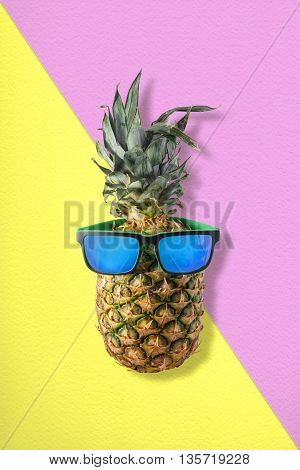 Pineapple With Sunglasses For Tropical Summer Idea