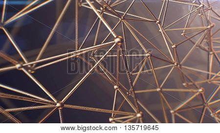 3D rendering of Science Molecular DNA Model Structure business concept