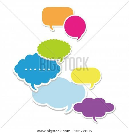 Dialog clouds. vector illustration