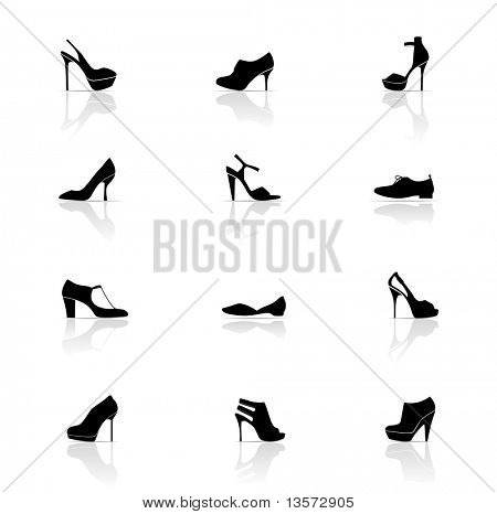 Icon-Set, Schuhe