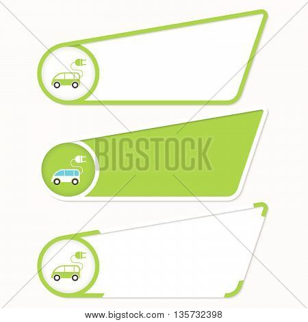 Green boxes for your text and ecology car