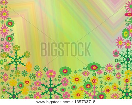 illustration made of flower
