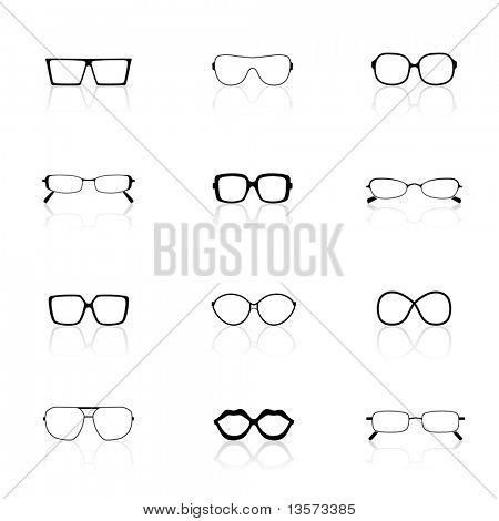 Conjunto de ícones, óculos de sol