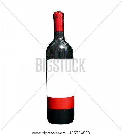bottle of red vine on white