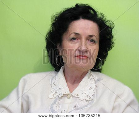 serious beauty mature lady