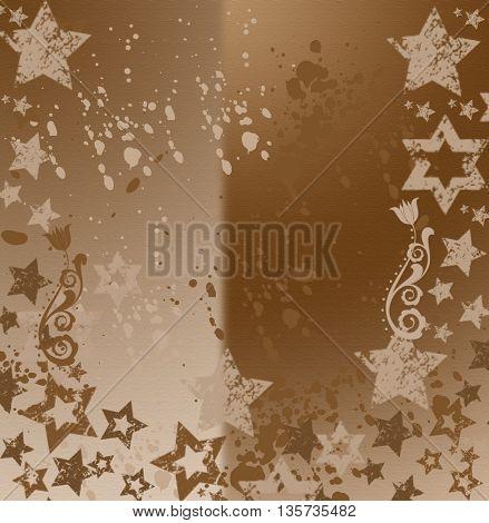 grunge stars on brown