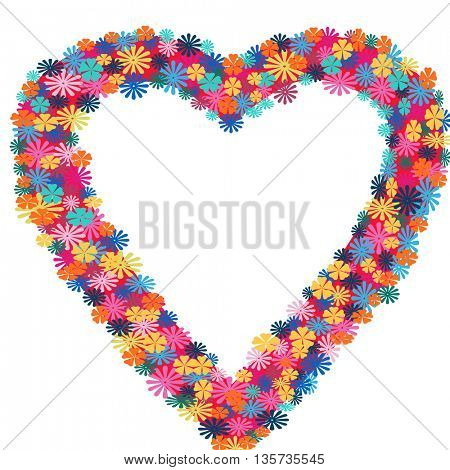 heart shape  made of flowers