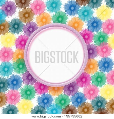 flowers background and sample for text