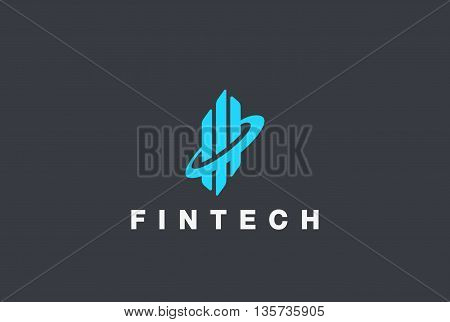 Corporate Business Fintech Logo abstract vector Real Estate icon