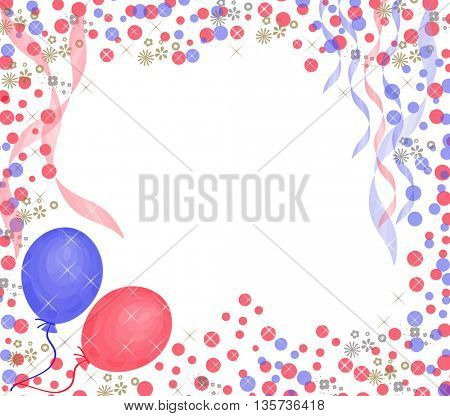 baloons on colorful background