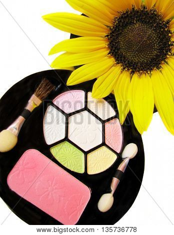 make up and sunflower