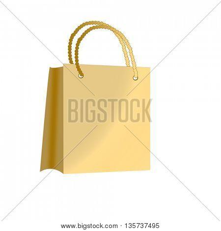 Beautiful beige shopping bag