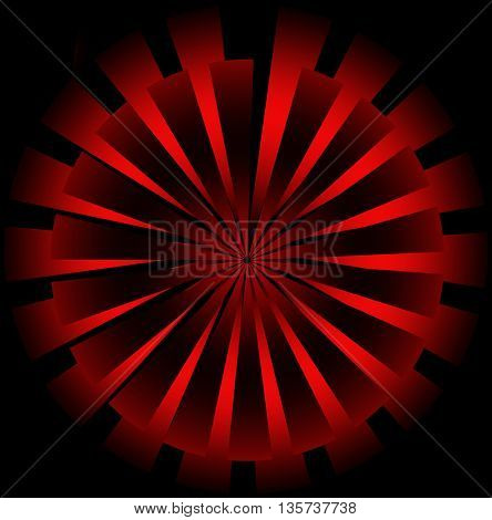 Abstract red sunburst background