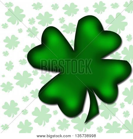 four-leaved clover isolated