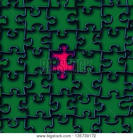 Background with Jigsaw puzzle